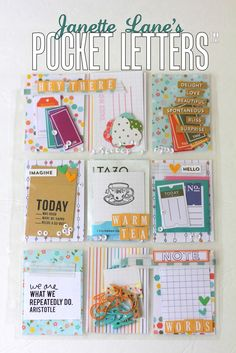 A new Pocket Letter tutorial! Send some cute planner goodies to your penpals! Pen Pal Letters, Pocket Letters, Pocket Pal, Pocket Cards, Snail Mail Pen Pals, Project Life Cards, Project Life Planner, Pocket Scrapbooking, Happy Mail