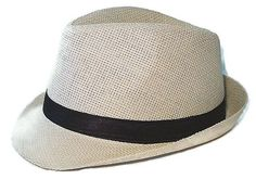 Fedora Straw Hat Black Band Summer Beach Hat available in Pink, White,  Blue and Beige #FedoraTrilby