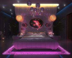 #luxuriousbedrooms Dream Rooms, Dream Bedroom, Gold Interior, Interior Design, Interior Ideas, Neon Room, Luxury Bedroom Design, Woman Bedroom, Awesome Bedrooms