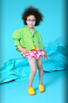 BOdeBO kids fashion SUMMER 2014 MARGUERITE JACKET Lined jacket, tailored collar, puffed ¾ sleeves, two buttons, two slit pockets. dots dots dots