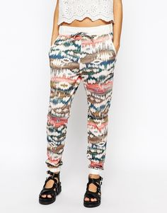 Image 4 ofEsprit Printed Casual Joggers