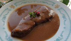 Jak uvařit kančí kýtu se šípkovou omáčkou | recept Pork, Beef, Cooking, Health, Red Velvet, Brownies, Kale Stir Fry, Meat, Kitchen