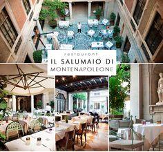 Il Salumaio di Montenapoleone restaurant, Milan ( best restaurant)