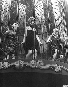 Vintage Life in Black and White: Cage dancers, 1960's.