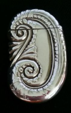 Antique Silver Soldered Scroll Match Safe Vesta Case Wallace Sons