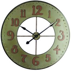 Yosemite Home Decor 35.5 in. x 35.5 in. Circular Iron Wall Clock-CLKB2A168 - The Home Depot