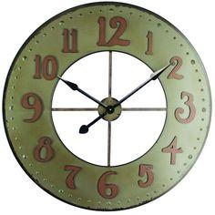 Yosemite Home Decor 35.5 in. x 35.5 in. Circular Iron Wall Clock-CLKB2A168 - The Home Depot