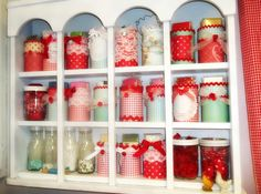 Ribbonwood Cottage: Altered cans for spring and organizing