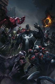 Edge of Venomverse N°1 variant par Francesco Mattina