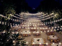 fairy lights, guirnalda luces, boda, wedding | Photo by Paloma Cruz Eventos