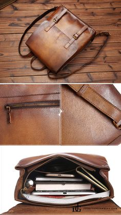 Vintage Womens Brown Leather Backpack Purse Cool Backpacks for Women - Brown 599a3301ad3a0