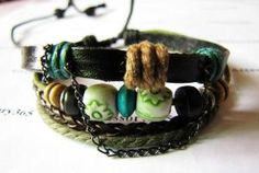 Love leather bracelets