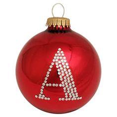 Picture of Red Bling Monogram Ornament