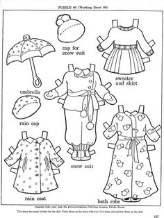 JANE A PAPER DOLL {} Copyright 1948 {} Artist, Ethel Hayes Sims, is a well known name in the older paper doll world. May 4, 2011