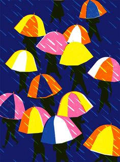 It's Nice That : Virginie Morgand's big, bold and bright posters of joyous, swarming crowds