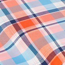 Soft Twill 'Monika', orange/blau Orange, Fabrics