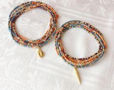 Moroccan Wrap Bracelets Nona designs Etsy shop https://www.etsy.com/listing/252975015/morocco-long-seed-bead-stretch-bracelet