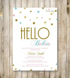 Hello Babies! An adorable way to shower mommy-to-be in the love and warmth of family and friends. This listing is for a digital card. It can be