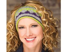 Peaked Head Warmer featured in Learn Tunisian Crochet Colorwork with Rohn Strong. Watch a free preview here: https://www.anniescatalog.com/onlineclasses/detail.html?code=CCV03