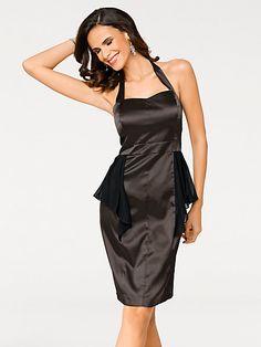 Ashley Brooke - Robe de soirée courte en tissu satiné, coupe ajustée