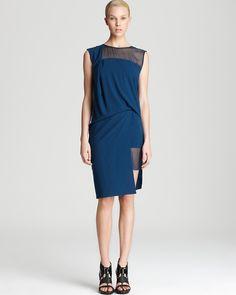 Helmut Lang Sleeveless Dress - Fluid Crepe