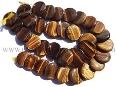 Gemstone Beads, Tiger Eye Smooth Disc (Quality AA+) / 27 to 30 mm / 36 cm / TI-061 by beadsogemstone on Etsy #tigereyebeads #discbeads #gemstonebeads #semipreciousstones #semipreciousbeads #briolettes #jewelrymaking #craftsupplies #beadsofgemstone #stones #beads