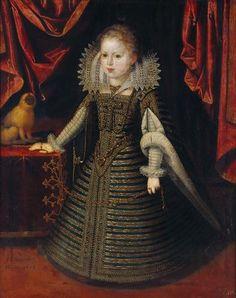 Juan Pantoja de la Cruz. Infantin Anna von Spanien, Konigin von Frankreich, 1604