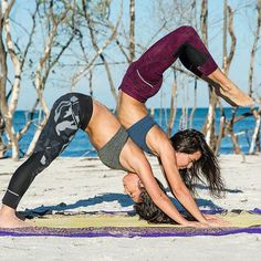 Tag a friend you can lean on when times (or yoga poses) get tough. /… Tag a friend you can lean on when times (or yoga poses) get tough. // photo via Blake Cortes-Photo Two People Yoga Poses, Couples Yoga Poses, Partner Yoga Poses, Yoga For Two, Yoga Poses For Two, Cool Yoga Poses, Couple Yoga, Pranayama, Yoga Inspiration