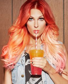 Super awesome mix of Orange, Red and Pink #Orange #ColorIntensity joico.com/intensity