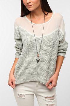 Urban Renewal Chiffon Top #Sweater  #UrbanOutfitters #sheer