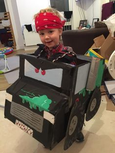 My son\'s monster truck halloween costume. He wanted to be grave ...