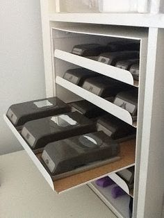 Letter trays from Ikea for punch storage