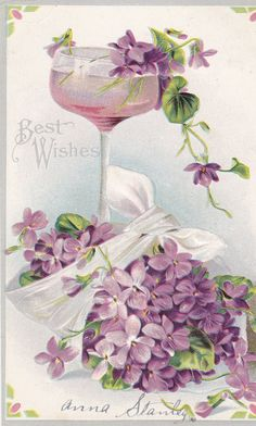 Beautiful vintage post card reminds me of spring. TG