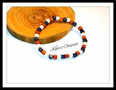Genuine European Red, White & Blue Wood Bead Bracelet - pinned by pin4etsy.com #handmade #woodjewelry #jewelry #bracelets #etsy #katesoutpost