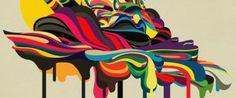 Illustrateur et graphic designer, Jeremi Chenier est né à Montréal, et vis aux Etats-Unis désormais. Sa particularité vient de son style, une combinaison de couleurs & de textures folles!