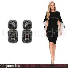 Sabemos lo que te gusta y lo tenemos ★ #Pendientes Giselle: 13,95 € en https://www.conjuntados.com/es/pendientes/pendientes-largos/pendientes-giselle-negros-con-strass.html ★ #novedades #earrings #conjuntados #conjuntada #joyitas #lowcost #jewelry #bisutería #bijoux #accesorios #complementos #moda #fashion #fashionadicct #picoftheday #outfit #estilo #style #GustosParaTodas #ParaTodosLosGustos