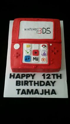 Nintendo 3DS cake,buttercream with fondant decorations .
