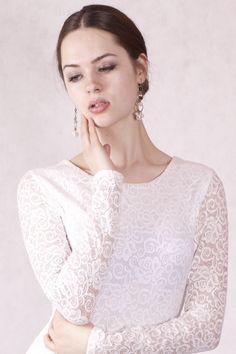 Longsleeves - NARA ® Spitzenshirt - ein Designerstück von Berlinerfashion bei DaWanda