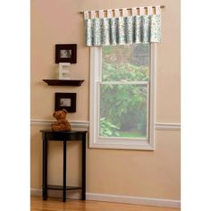 Carousel Designs Black and White Zebra Window Valance Tab-Top Style Kids Curtains, Drapes Curtains, Window Valances, Nursery Curtains, Vertical Blinds Cover, Pink Damask, White Damask, White Zebra, Carousel Designs