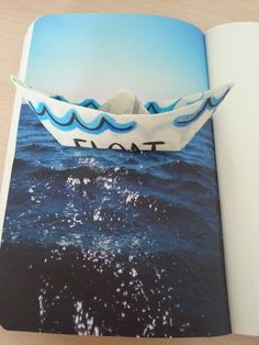 "Wreck this Journal by Keri Smith | ""Float his Page."" 