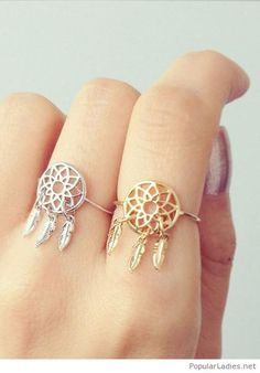 beautiful-boho-rings-on-silver-and-gold