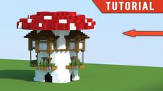 Minecraft: How to Build Modern Survival Base Tutorial - (Mushroom House)