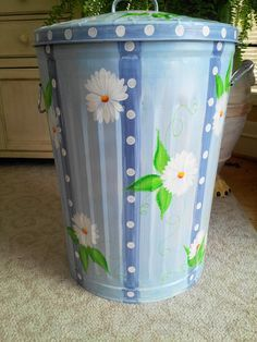 Cute Painted Trash Can - Bing images