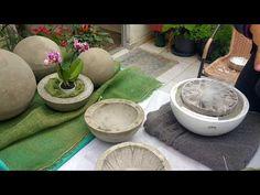 Esferas de cimento para jardim mega fácil de fazer (se inscreva e ative o sininho 😍) - YouTube Diy Cement Planters, Cement Flower Pots, Concrete Crafts, Concrete Art, Cement Design, Beton Diy, Backyard Patio Designs, Diy Art, Christmas Decorations