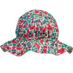 Caramel - Baby Girls Liberty Print 'Heron' Sun Hat | Childrensalon