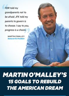 "2016 Best Mail Piece for Presidential Primary  ""Martin O'Malley's 15 Goals to Rebuild The American Dream"" Ourso Beychok, Inc."