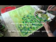 Acrylmalerei Blätter im Morgendunst , Acrylic painting tree leaves in the morning dew - YouTube