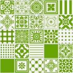 Patchwork Unicolor Pistache - 20x20