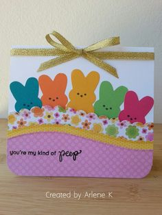 I made this colorful Easter card with the SSS dies. This card was very easy to make.  The bunny die came in a SSS March Card Kit 2016, I ...