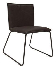 Garda+Spisebordsstol+-+Sort+-+En+fin+sort+spisebordsstol.+Stolen+har+et+mat+look+og+fine+ben+af+sort+mat+stål.+Denne+spisebordsstol+vil+gøre+sig+godt+i+det+rustikke+hjem+rundt+om+et+råt+træbord.